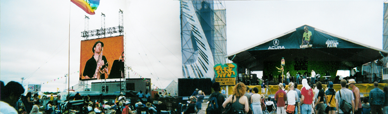Ted plays with Los Babies at New Orleans Jazzfest 2004